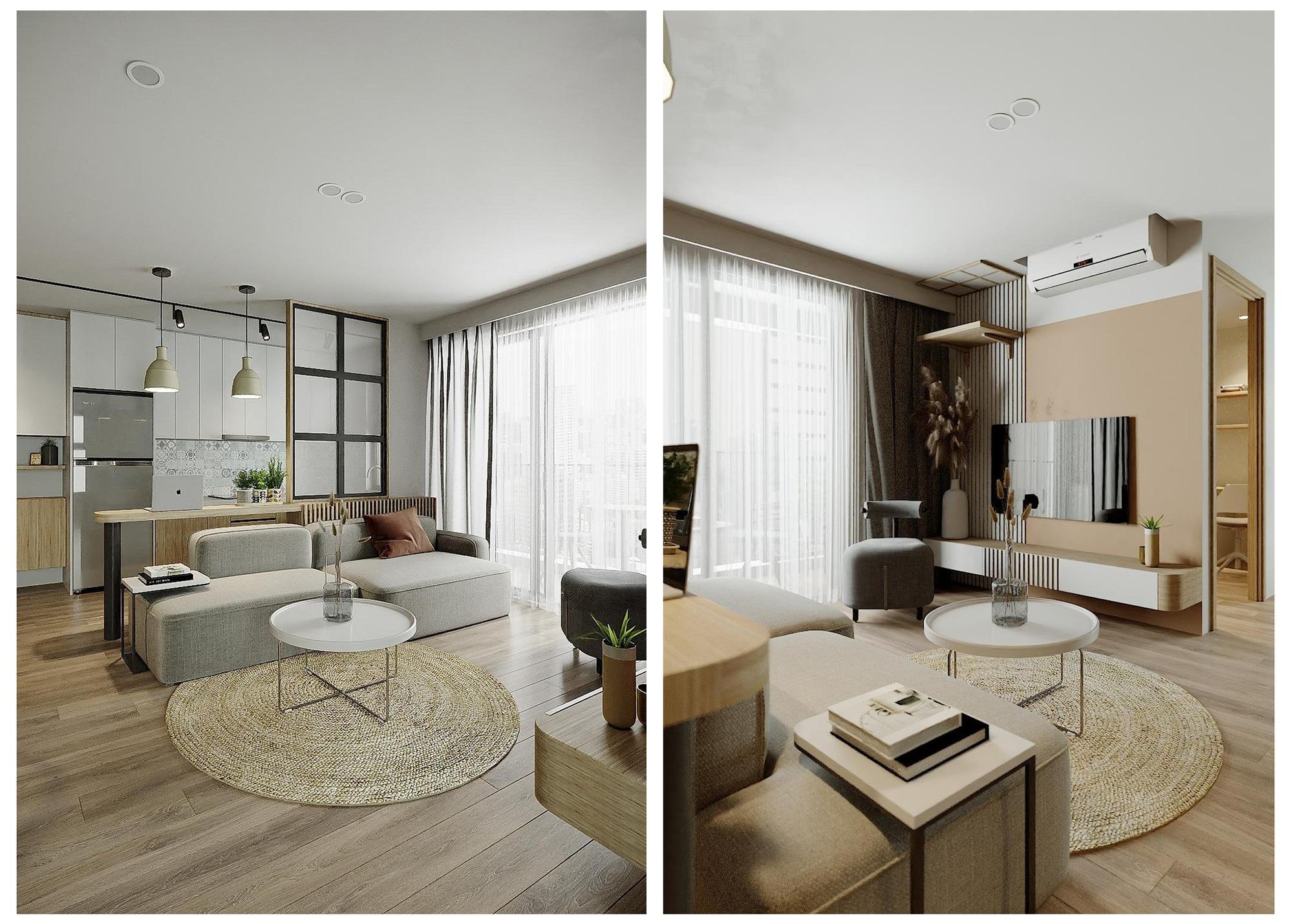 Những ý tưởng độc đáo cho thiết kế nội thất căn hộ chung cư hiện đại đẹp nhất - Ảnh 1.