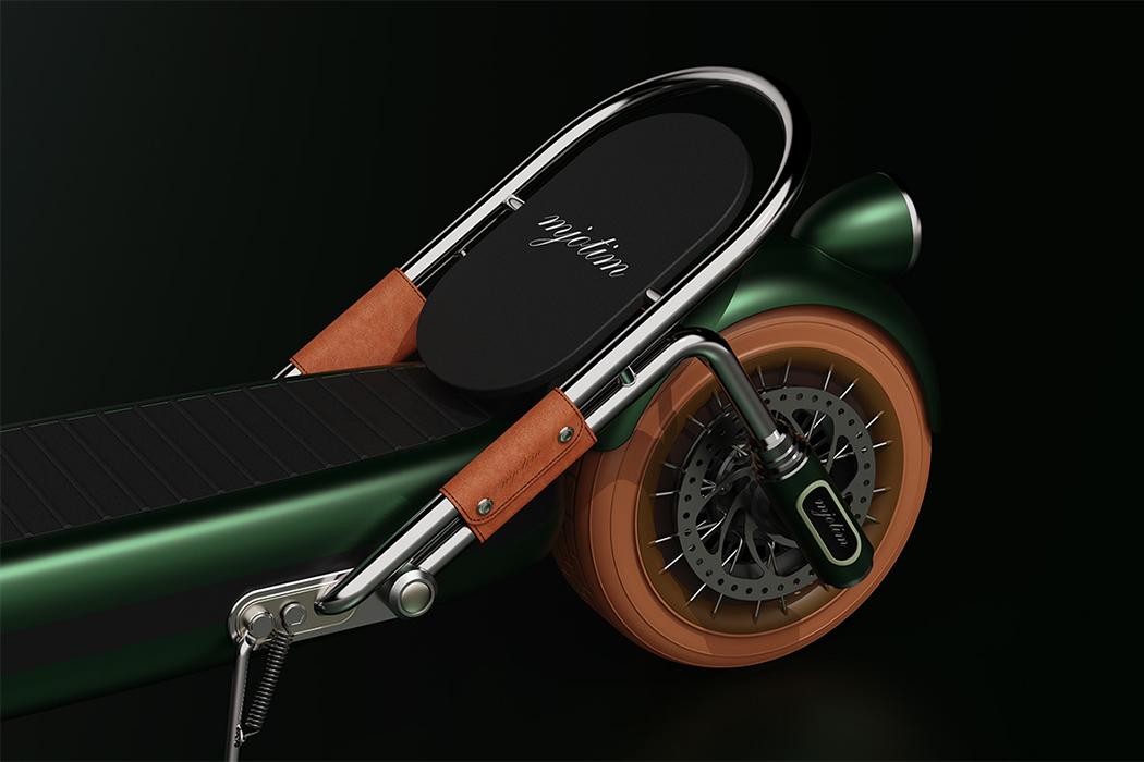Xe điện Mjotim lấy cảm hứng từ mẫu Porsche xanh lá lạ mắt - Ảnh 6.