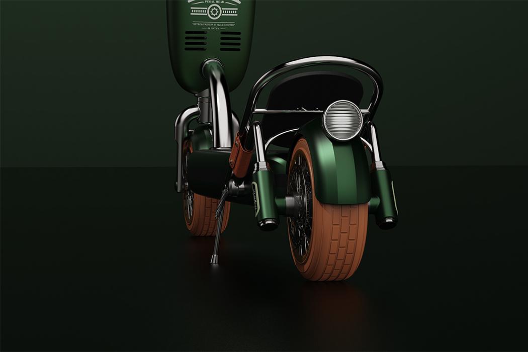 Xe điện Mjotim lấy cảm hứng từ mẫu Porsche xanh lá lạ mắt - Ảnh 5.