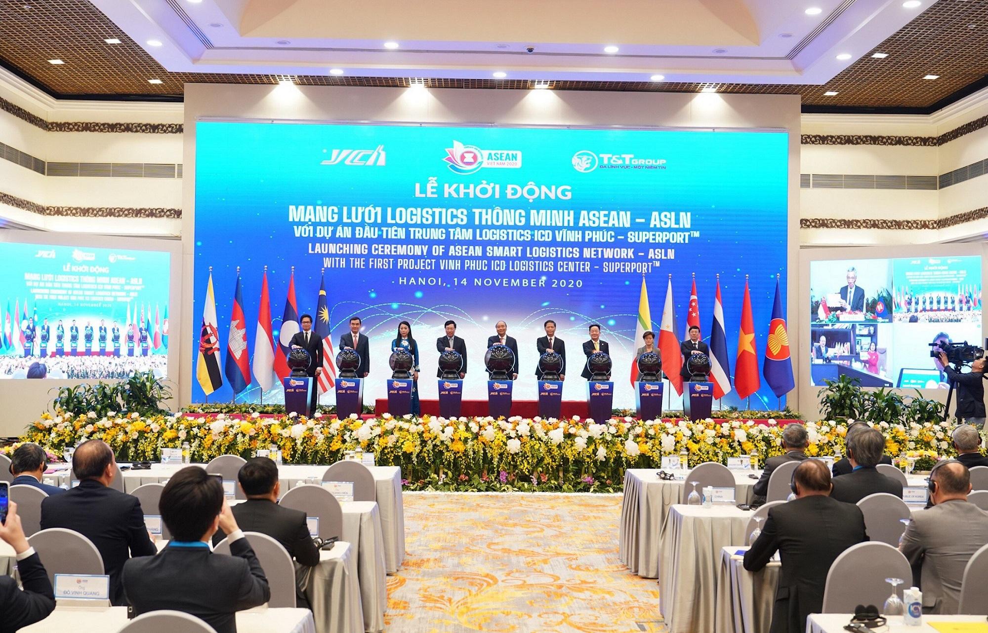 """Thủ tướng khởi động mạng lưới Logistics thông minh ASEAN với dự án đầu tiên """"Trung tâm Logistics ICD Vĩnh Phúc"""" - Ảnh 1."""