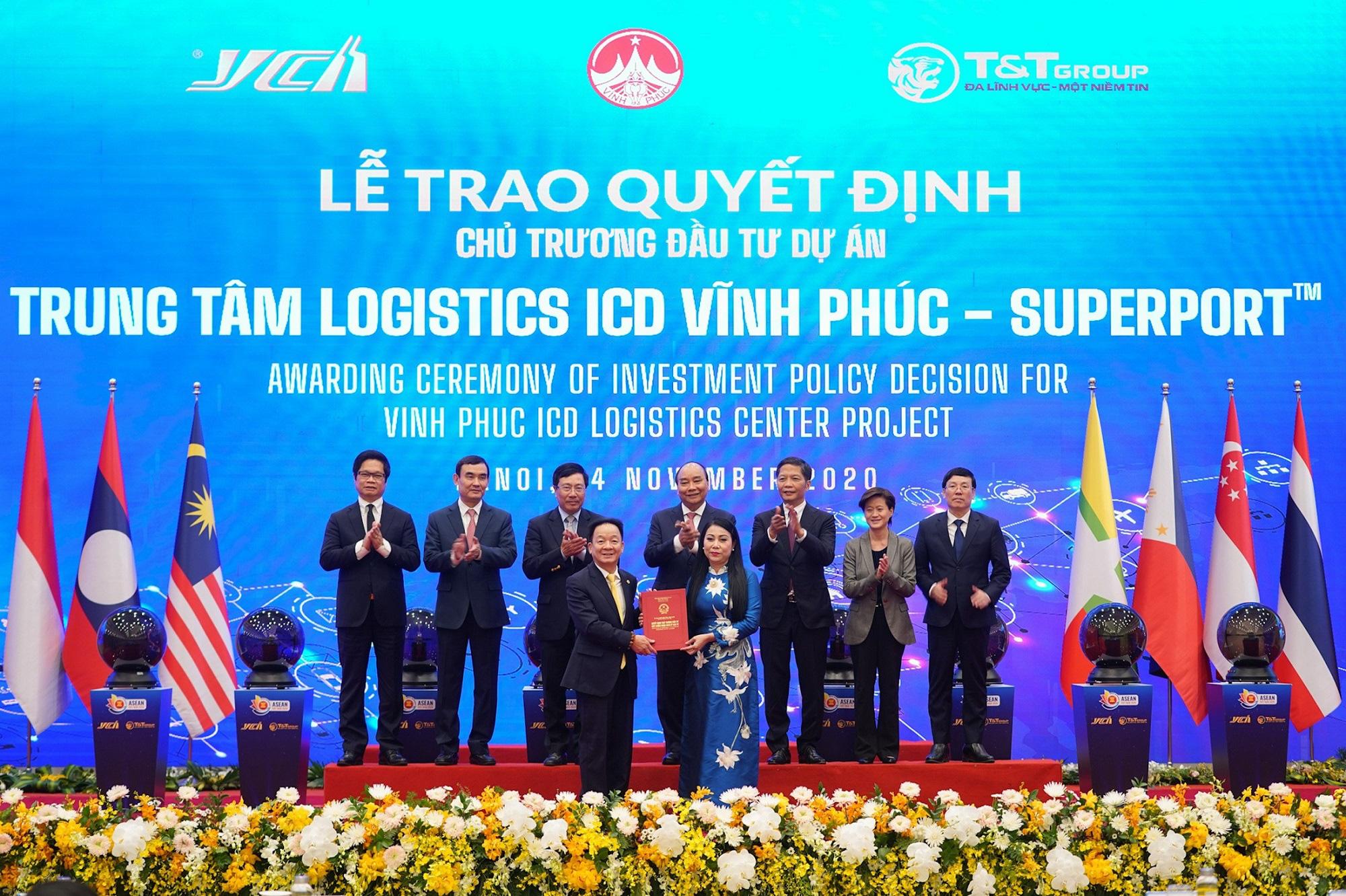 """Thủ tướng khởi động mạng lưới Logistics thông minh ASEAN với dự án đầu tiên """"Trung tâm Logistics ICD Vĩnh Phúc"""" - Ảnh 2."""