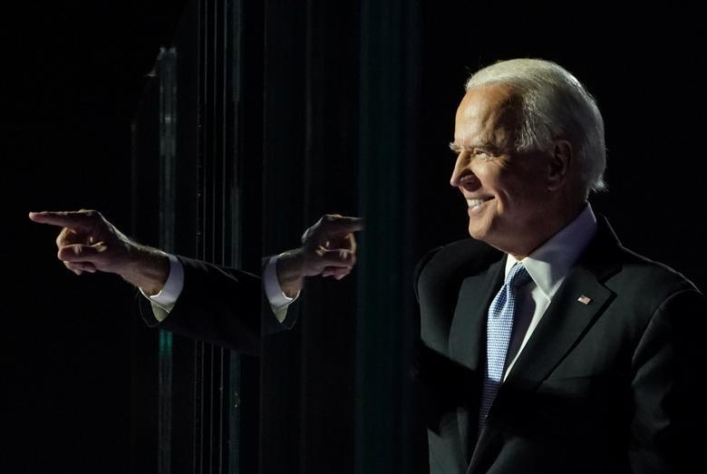 Ảnh thế giới 7 ngày qua: 2 biểu cảm trái ngược của TT Trump và Biden sau khi có kết quả bầu cử Mỹ - Ảnh 1.