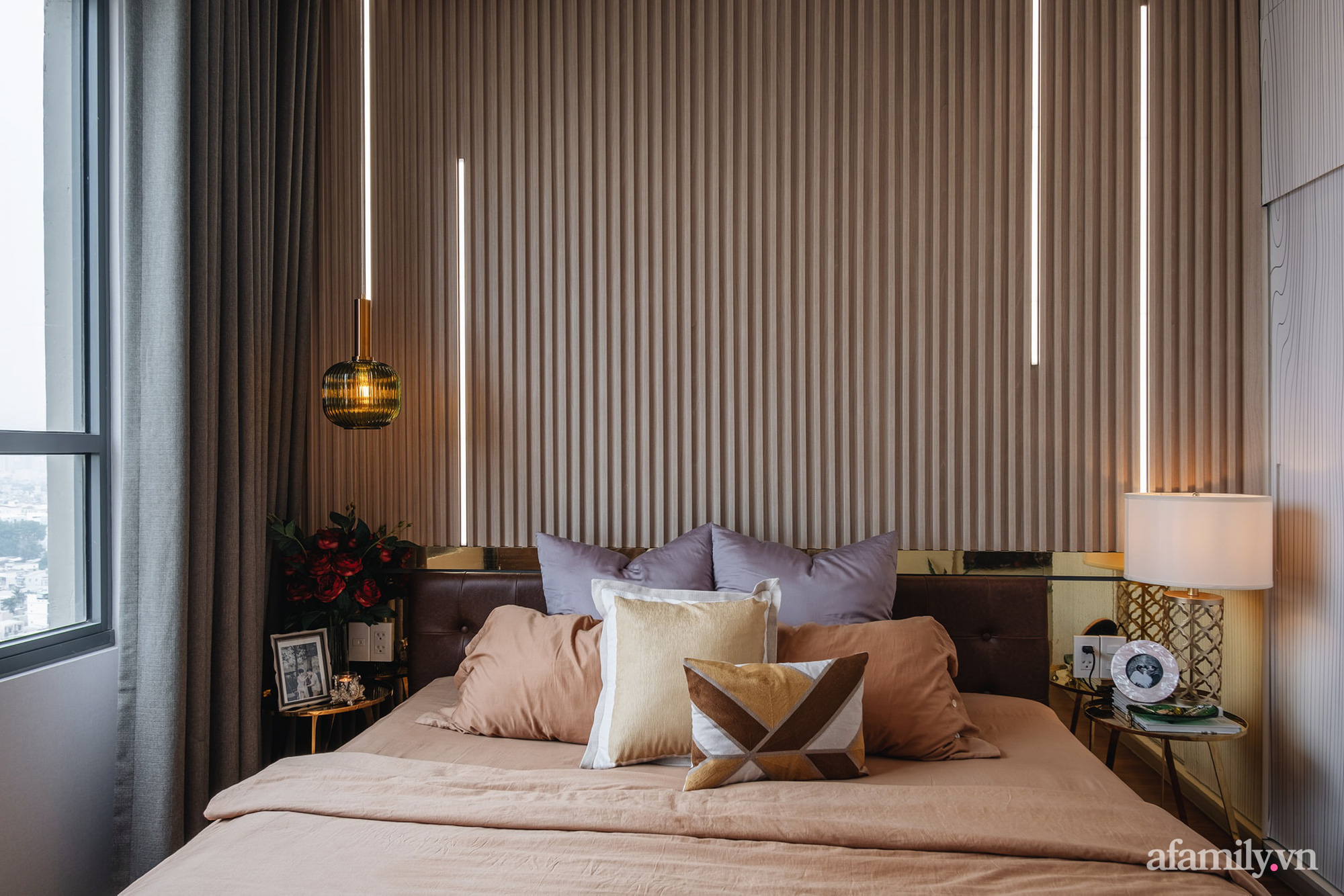Căn hộ 70m² màu nâu trầm đẹp sang chảnh với chi phí hoàn thiện nội thất 400 triệu đồng ở Sài Gòn - Ảnh 16.