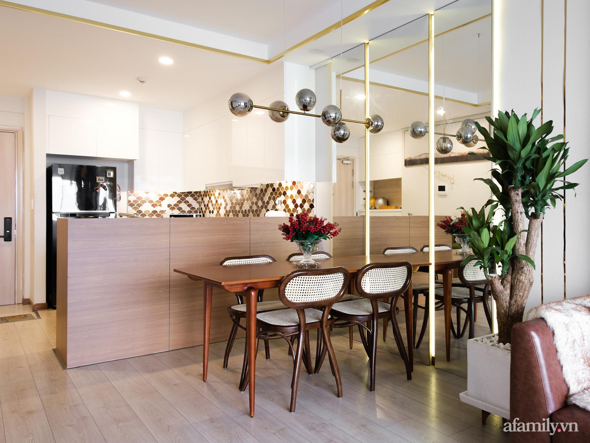Căn hộ 70m² màu nâu trầm đẹp sang chảnh với chi phí hoàn thiện nội thất 400 triệu đồng ở Sài Gòn - Ảnh 13.