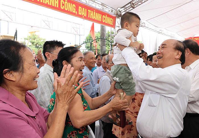 Hải Dương: Thủ tướng Chính phủ Nguyễn Xuân Phúc dự Ngày hội Đại đoàn kết tại Nam Sách  - Ảnh 1.
