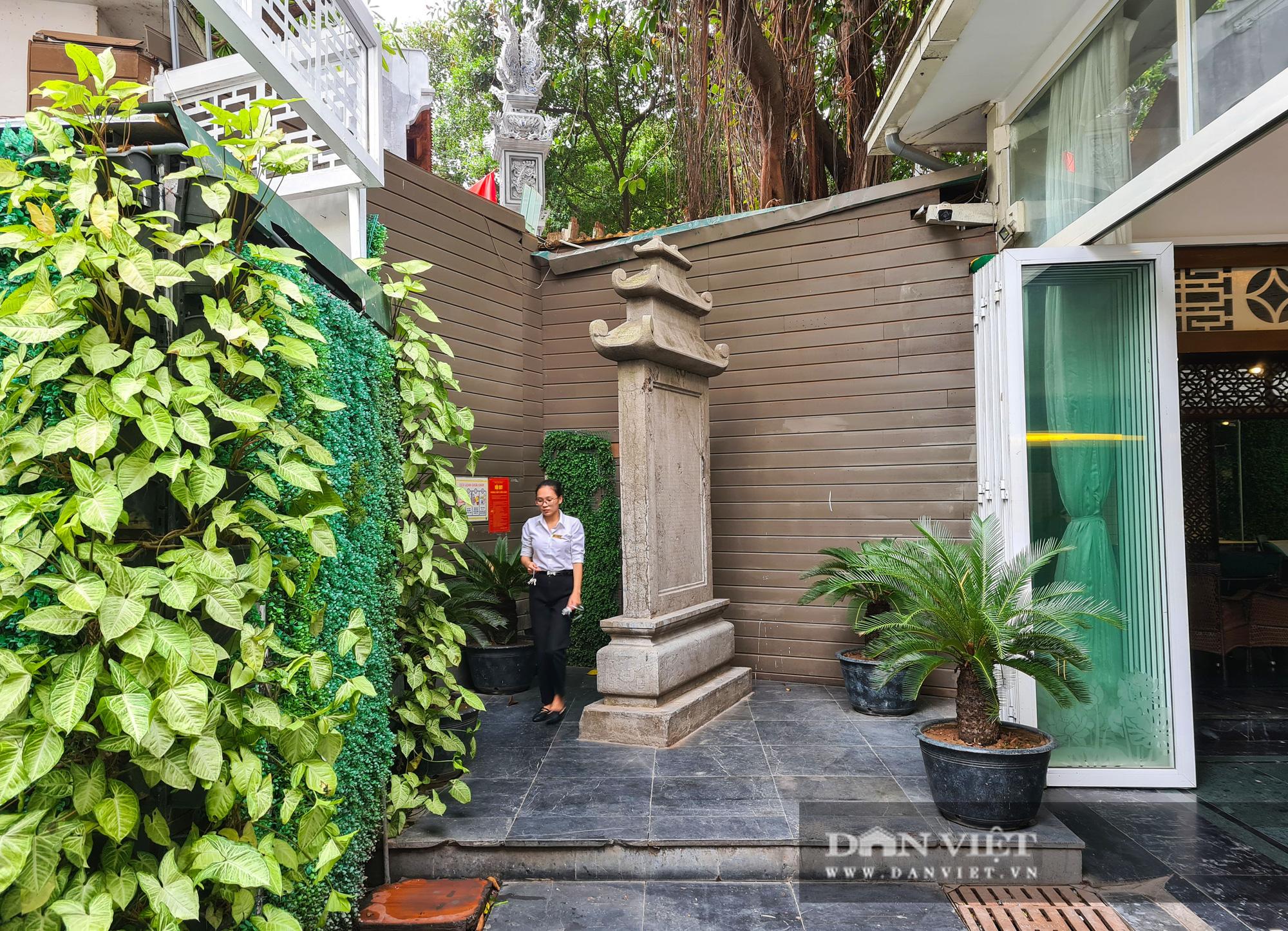 """Văn bia tưởng niệm Đại thi Nguyễn Du bị """"lãng quên"""" trong góc quán cà phê - Ảnh 1."""
