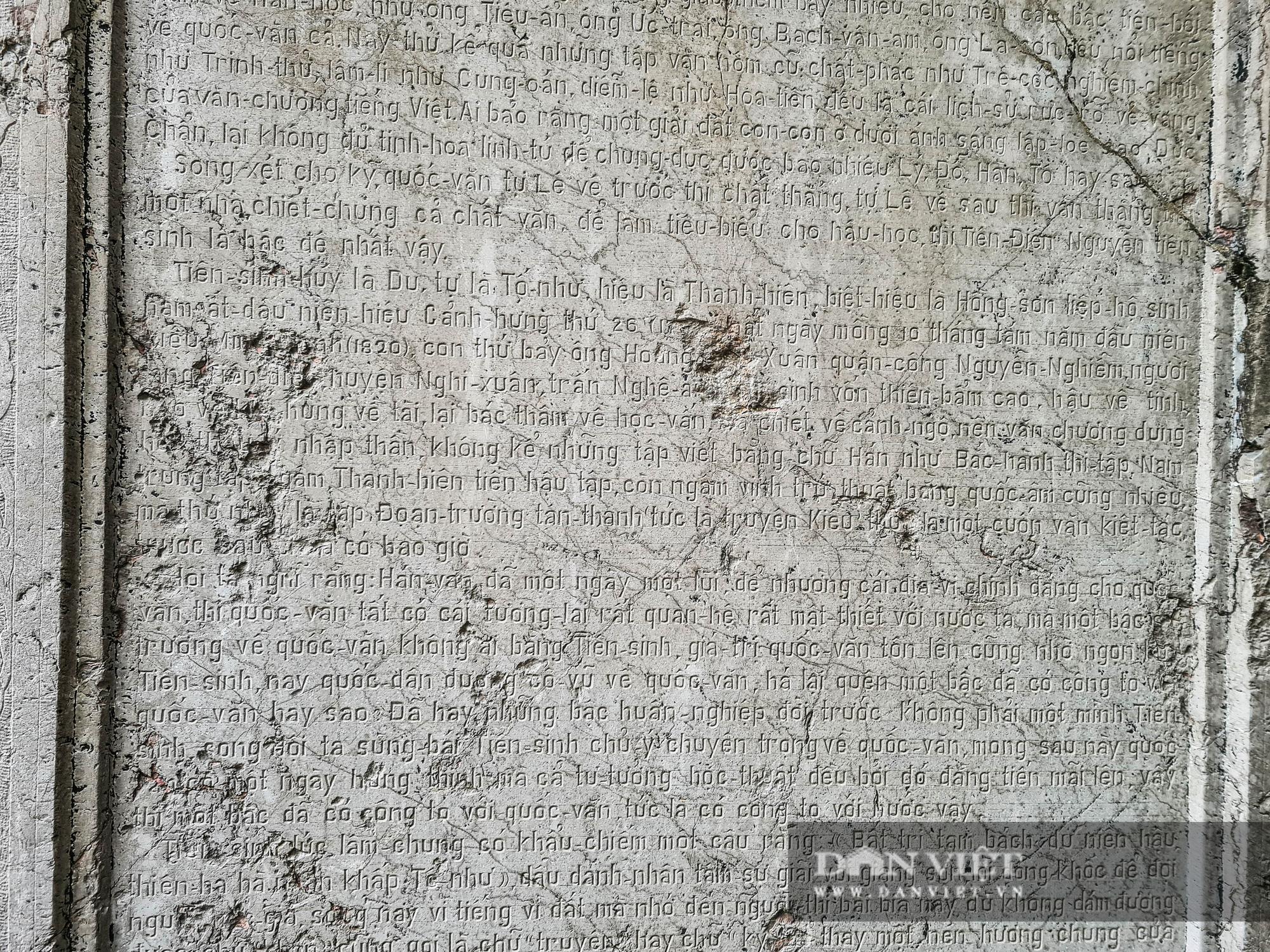 """Văn bia tưởng niệm Đại thi Nguyễn Du bị """"lãng quên"""" trong góc quán cà phê - Ảnh 6."""