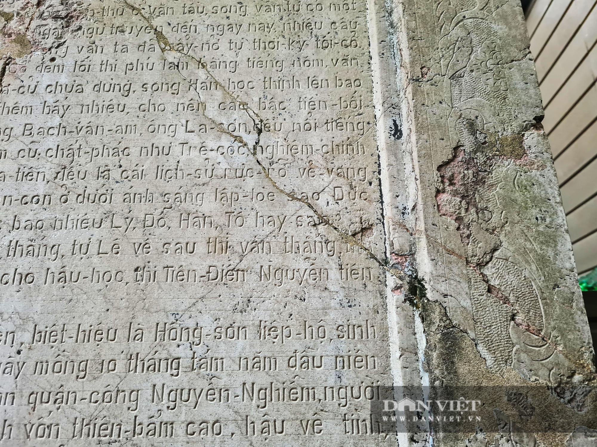 """Văn bia tưởng niệm Đại thi Nguyễn Du bị """"lãng quên"""" trong góc quán cà phê - Ảnh 7."""