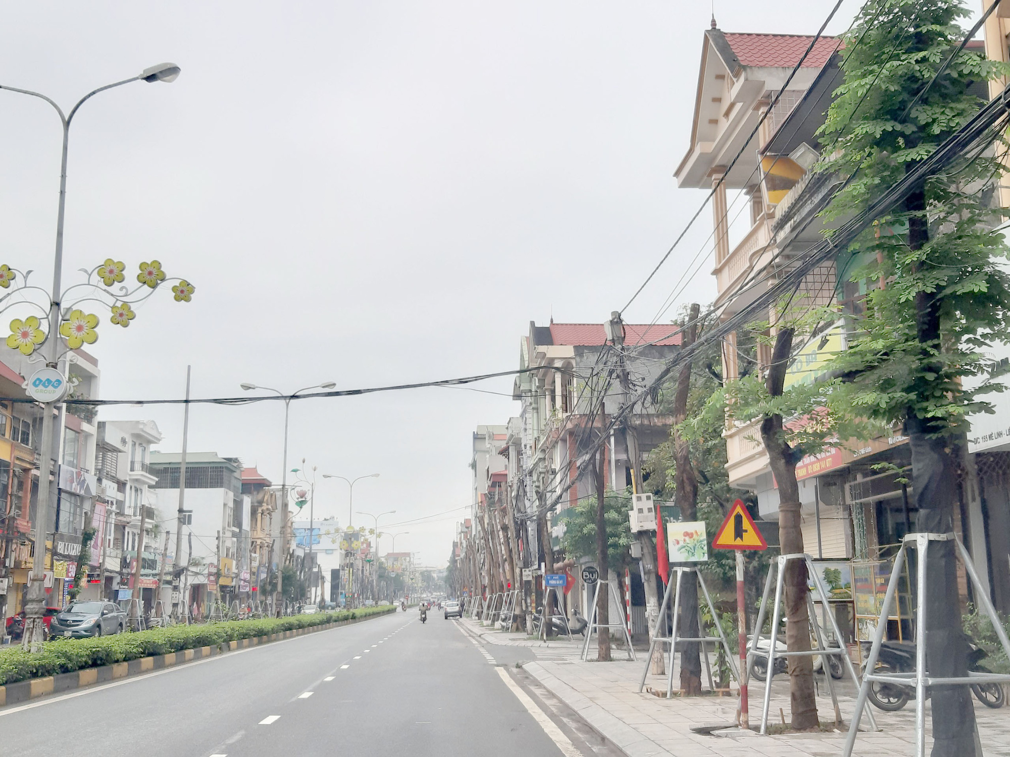 Vĩnh Phúc: La liệt cây xanh bị cụt ngọn, chết khô trên tuyến đường trung tâm thành phố - Ảnh 13.