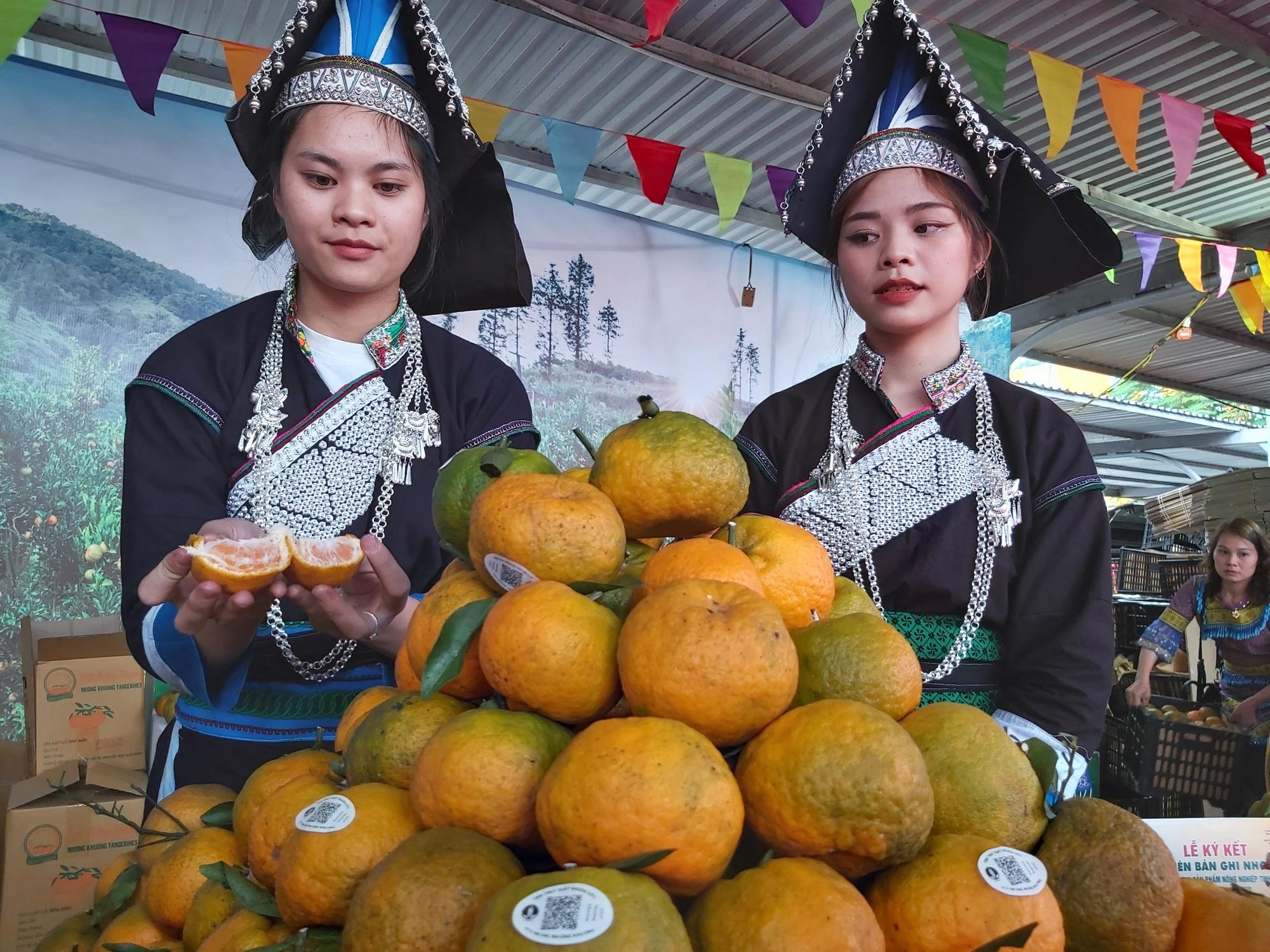 """Quýt ngọt, gạo Séng Cù, bưởi Múc...của huyện Mường Khương """"đổ bộ"""" xuống Thủ đô, người dân mê mẩn mua về ăn thử - Ảnh 12."""