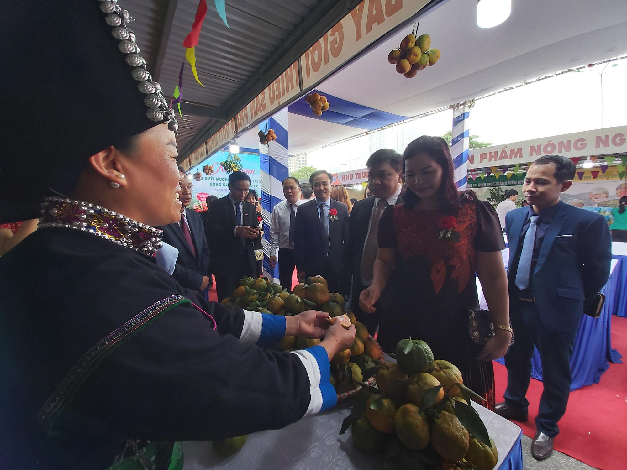 """Quýt ngọt, gạo Séng Cù, bưởi Múc...của huyện Mường Khương """"đổ bộ"""" xuống Thủ đô, người dân mê mẩn mua về ăn thử - Ảnh 10."""
