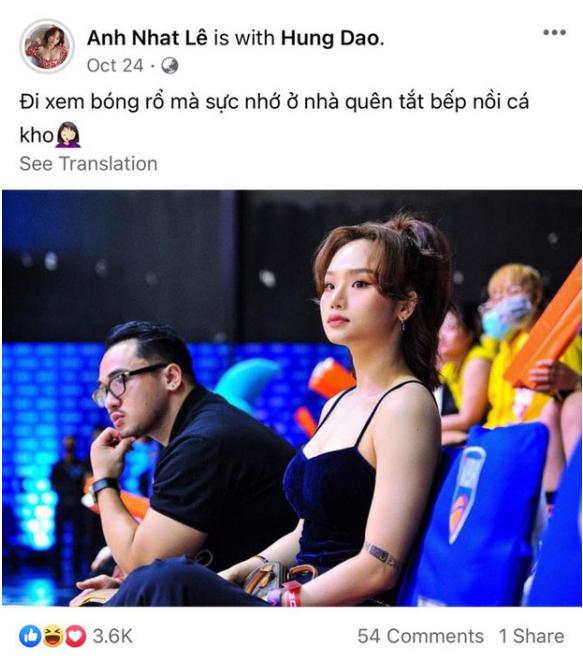Miu Lê đăng status quên tắt bếp nồi cá kho.