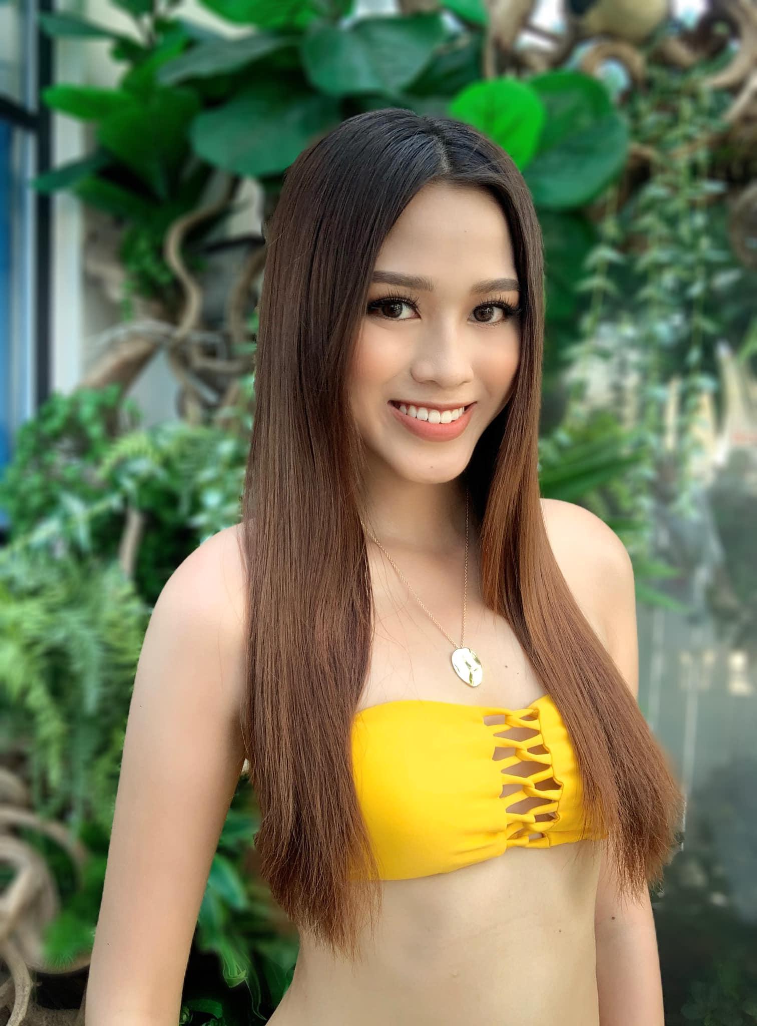 """Nhan sắc Đỗ Thị Hà mặc bikini quyến rũ với chân dài 1,11m """"đọ"""" dáng với Á hậu Phương Anh, Ngọc Thảo  - Ảnh 4."""
