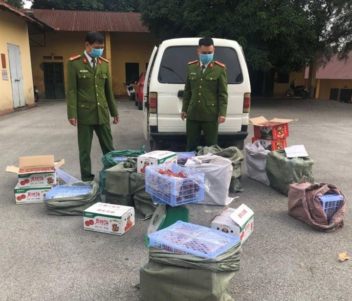 Lạng Sơn: Bắt giữ hơn 300 kg quả hồng chế biến nhập lậu - Ảnh 1.