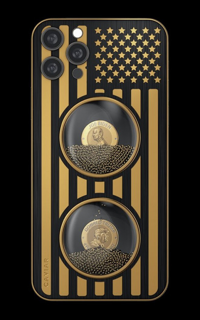 """iPhone 12 Pro phiên bản """"Biden & Trump"""", giá bán ngang xe Toyota Vios - Ảnh 1."""