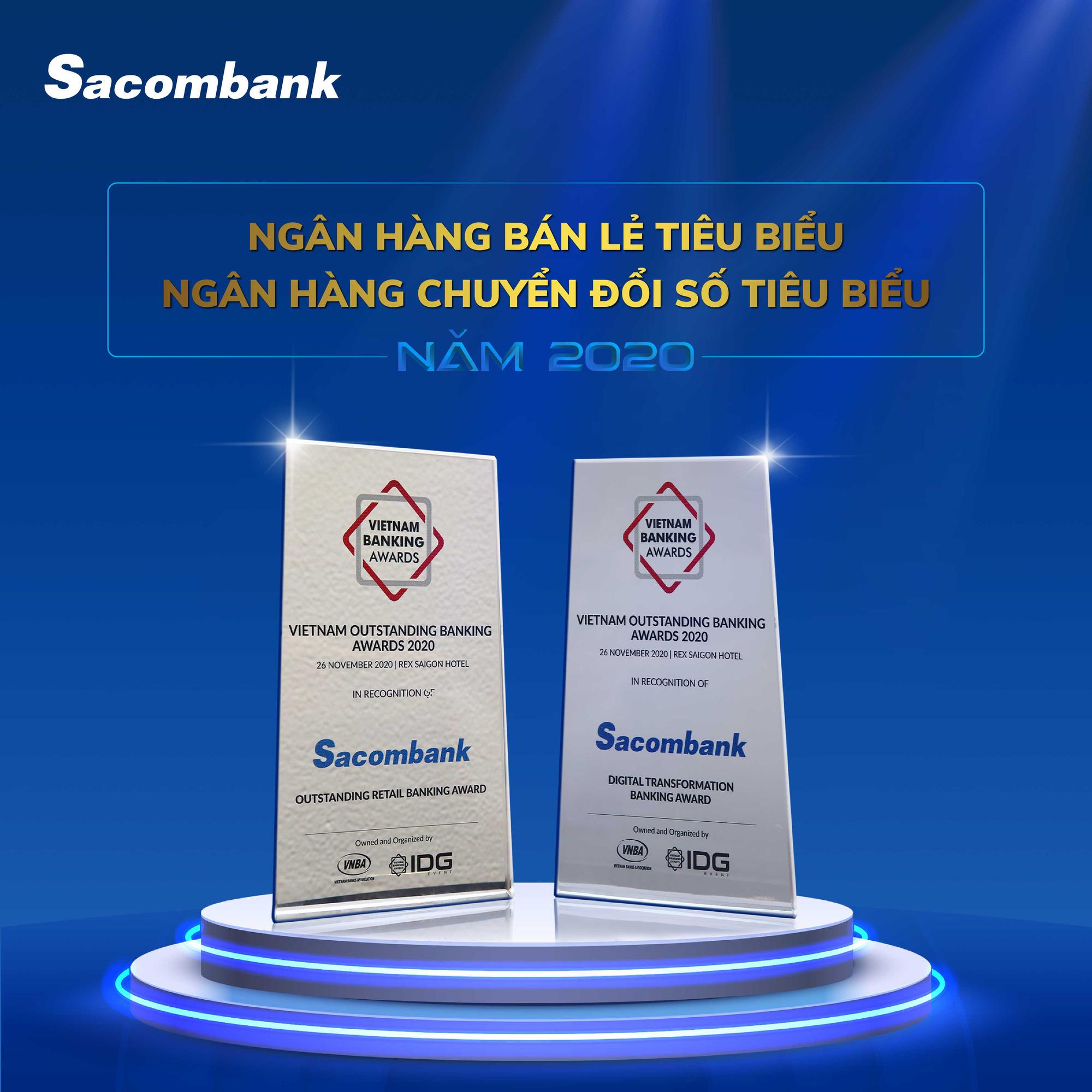 Sacombank nhận 2 giải thưởng về bán lẻ và chuyển đổi số - Ảnh 2.