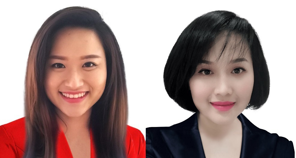 Bà Nguyễn Thái Nga và Nguyễn Thái Quỳnh Lê con gái Hồ Thị Kim Thoa
