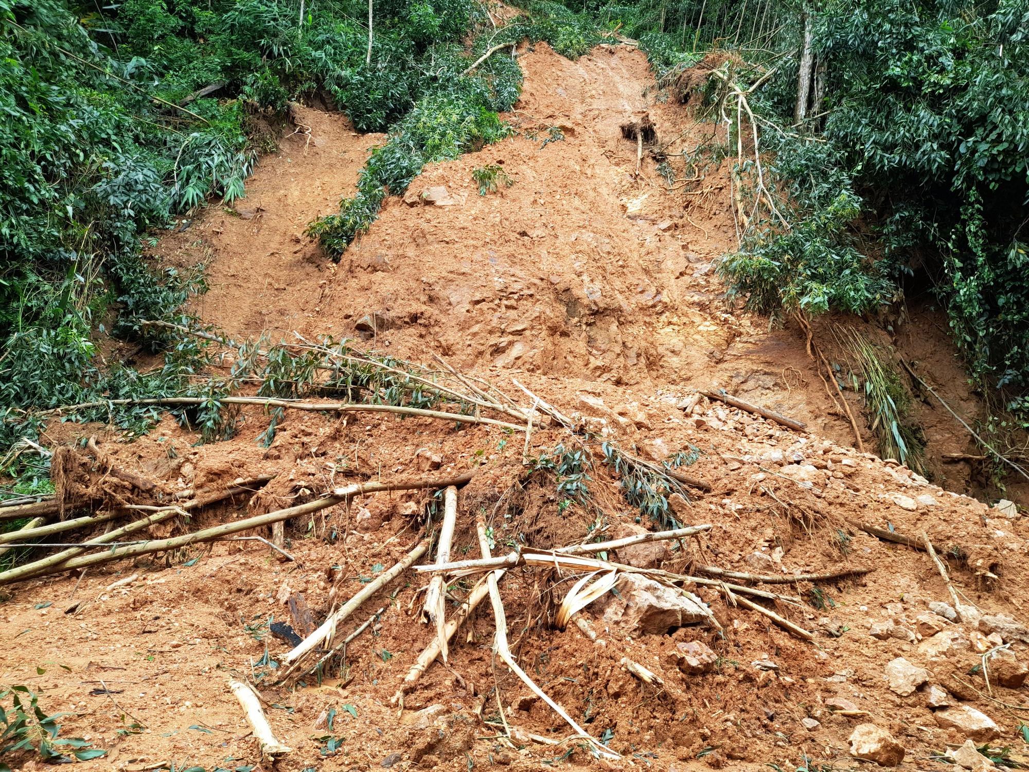 Bí thư, Chủ tịch tỉnh Bình Định Hồ Quốc Dũng thị sát điểm sạt lở nghiêm trọng ở miền núi - Ảnh 2.