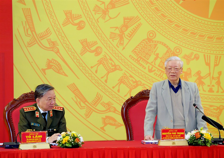 Tổng Bí thư, Chủ tịch nước: Công an phải bảo đảm tuyệt đối an toàn các sự kiện chính trị quan trọng của đất nước - Ảnh 1.