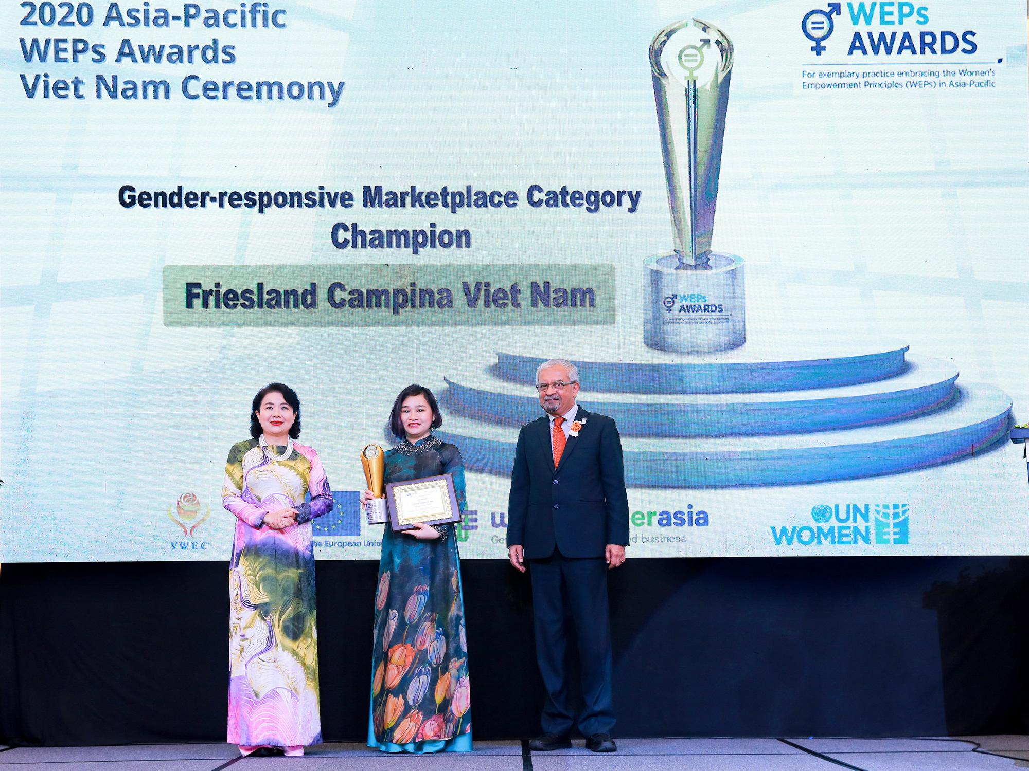 FrieslandCampina Vietnam nhận giải thưởng Trao quyền cho Phụ nữ khu vực châu Á – Thái Bình Dương - Ảnh 1.
