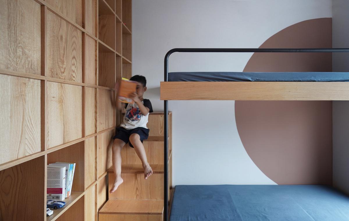 Căn chung cư 100m2 tại Hà Nội gây ấn tượng mạnh với phong cách tối giản  - Ảnh 5.