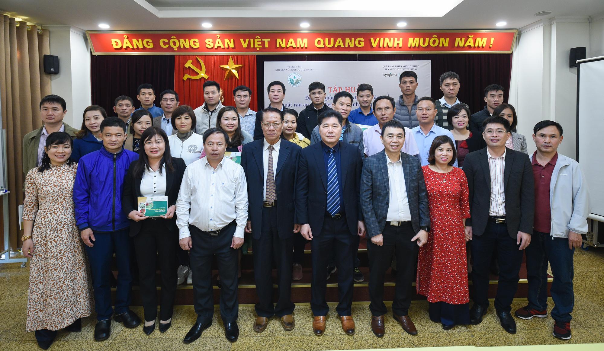 Hà Nội: Cán bộ khuyến nông học trồng rau VietGAP - Ảnh 3.