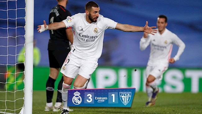 """Real Madrid đánh bại Athletic Bilbao, HLV Zidane đưa Benzema """"lên mây xanh"""" - Ảnh 1."""