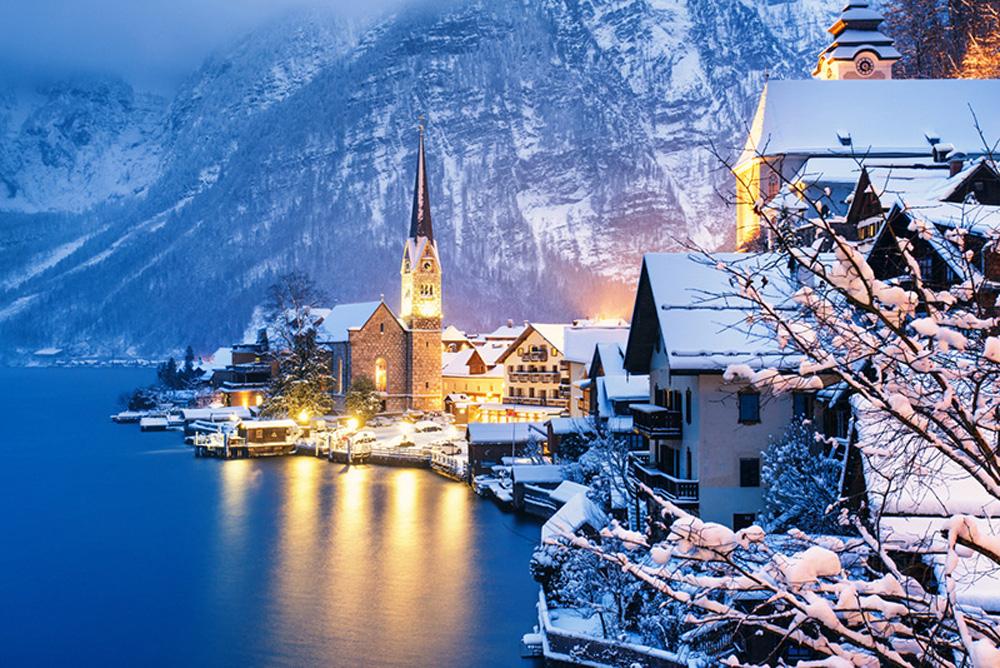 Làng cổ 7.000 năm tuổi Hallstatt đẹp mê mẩn vào mùa đông - Ảnh 10.