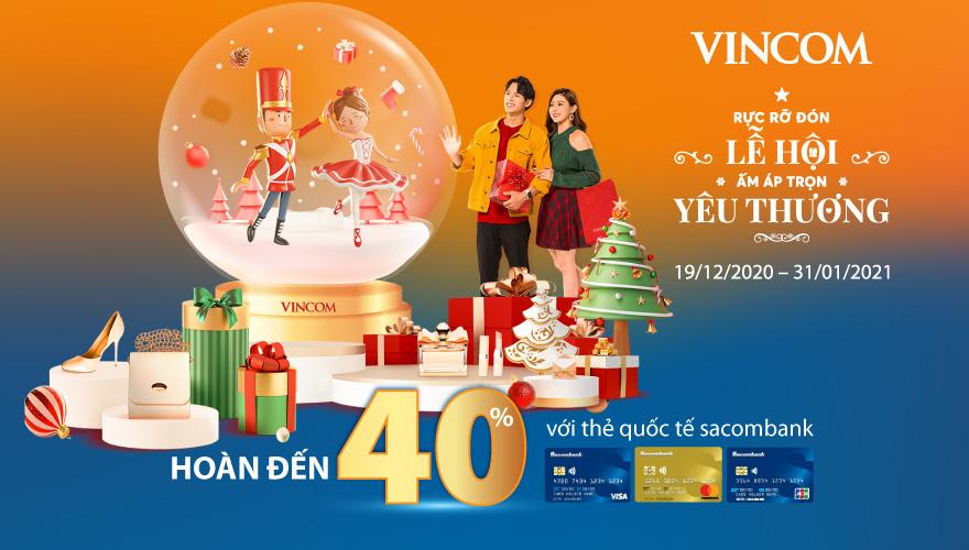 Nhiều ưu đãi cho chủ thẻ quốc tế Sacombank vào Giáng sinh và năm mới - Ảnh 1.