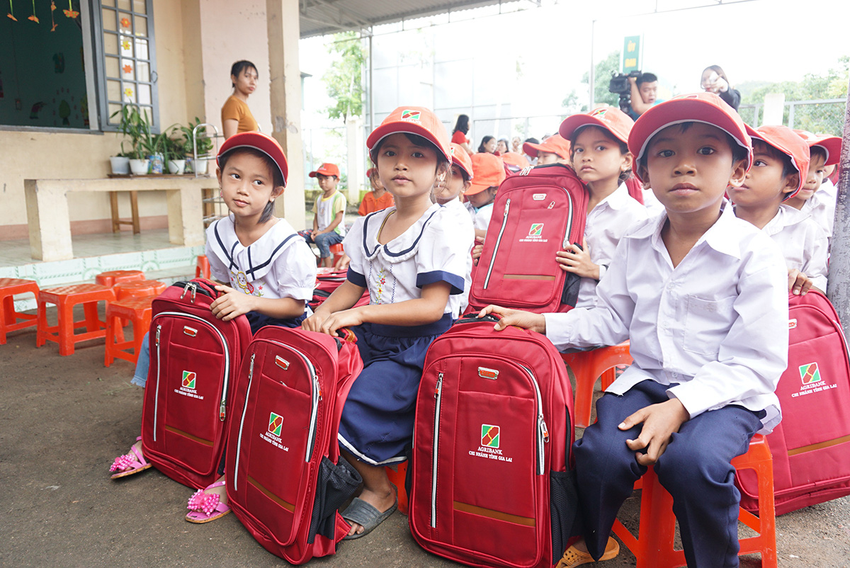 """Agribank chi nhánh Gia Lai: Trao tặng tủ, bàn ghế cho học sinh """"thêm con chữ, bớt đói nghèo"""" - Ảnh 3."""