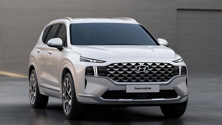 """Lộ diện Hyundai Santafe 2021, """"lột xác"""" nội ngoại thất - Ảnh 1."""