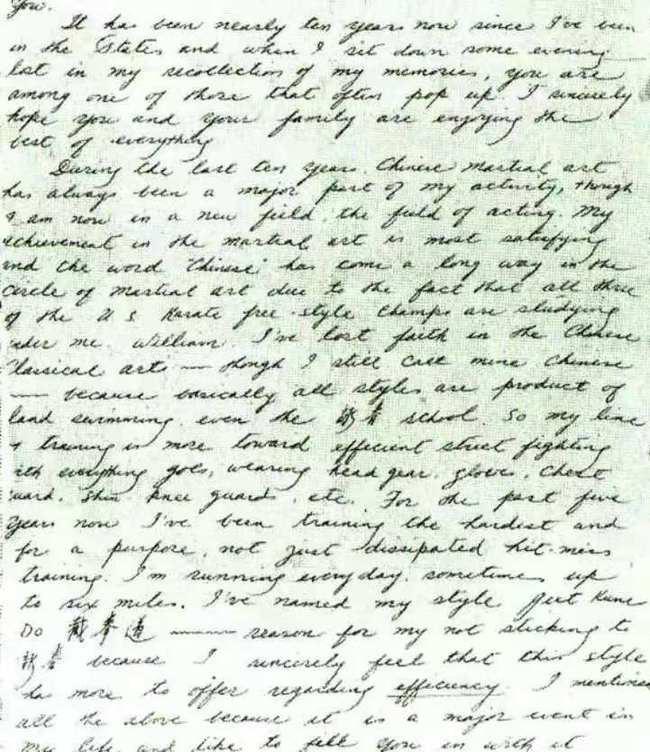 Hé lộ bức thư gây sốc của Lý Tiểu Long về võ thuật Trung Quốc - Ảnh 2.