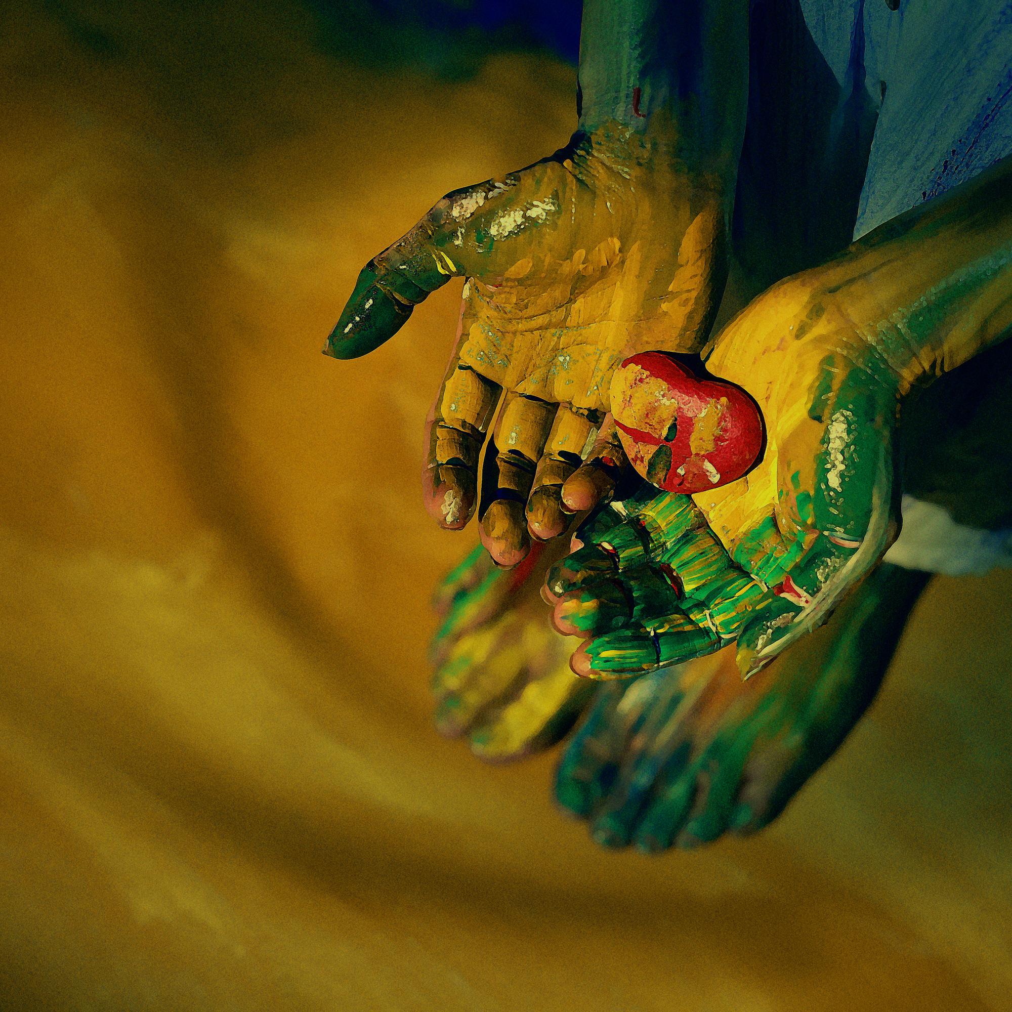 """Live - Colors: Giới trẻ thích thú với trào lưu """"biến"""" mình thành tranh - Ảnh 3."""