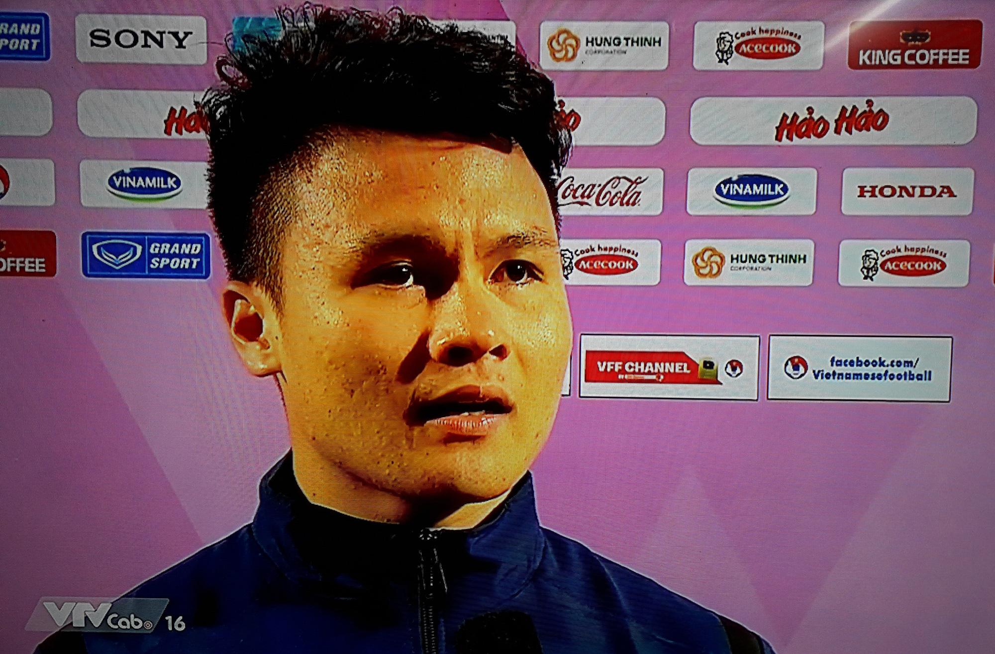 Quang Hải khẳng định anh đã quyết đoán và chính xác trong pha bóng tung người vô-lê ghi bàn.