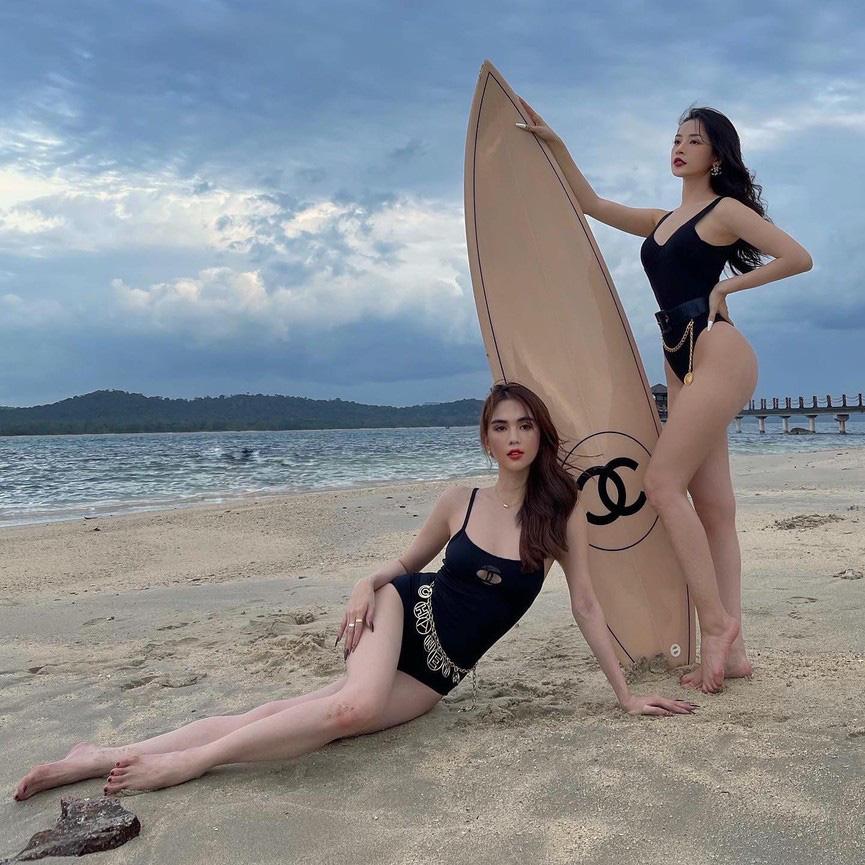 """""""Nữ hoàng nội y"""" đọ sắc với Chi Pu ở bãi biển khiến dân tình """"nhức mắt"""" - Ảnh 4."""