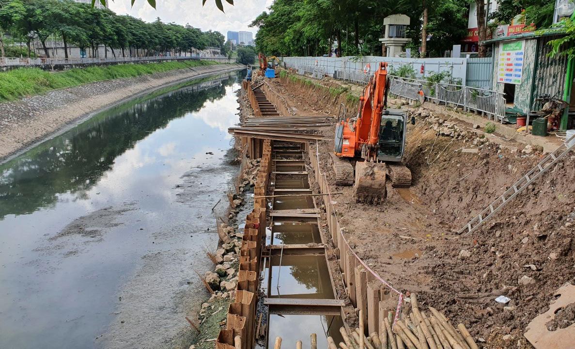Cận cảnh công trình tách nước thải khỏi sông Tô Lịch - Ảnh 8.