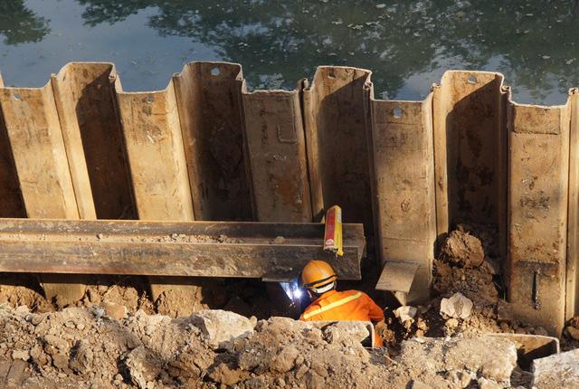 Cận cảnh công trình tách nước thải khỏi sông Tô Lịch - Ảnh 7.
