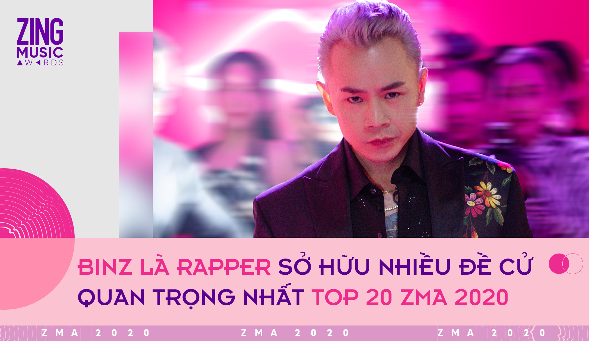 Top 20 giải Zing Music Awards: Binz là rapper có nhiều đề cử nhất, K-ICM vượt mặt Jack - Ảnh 3.