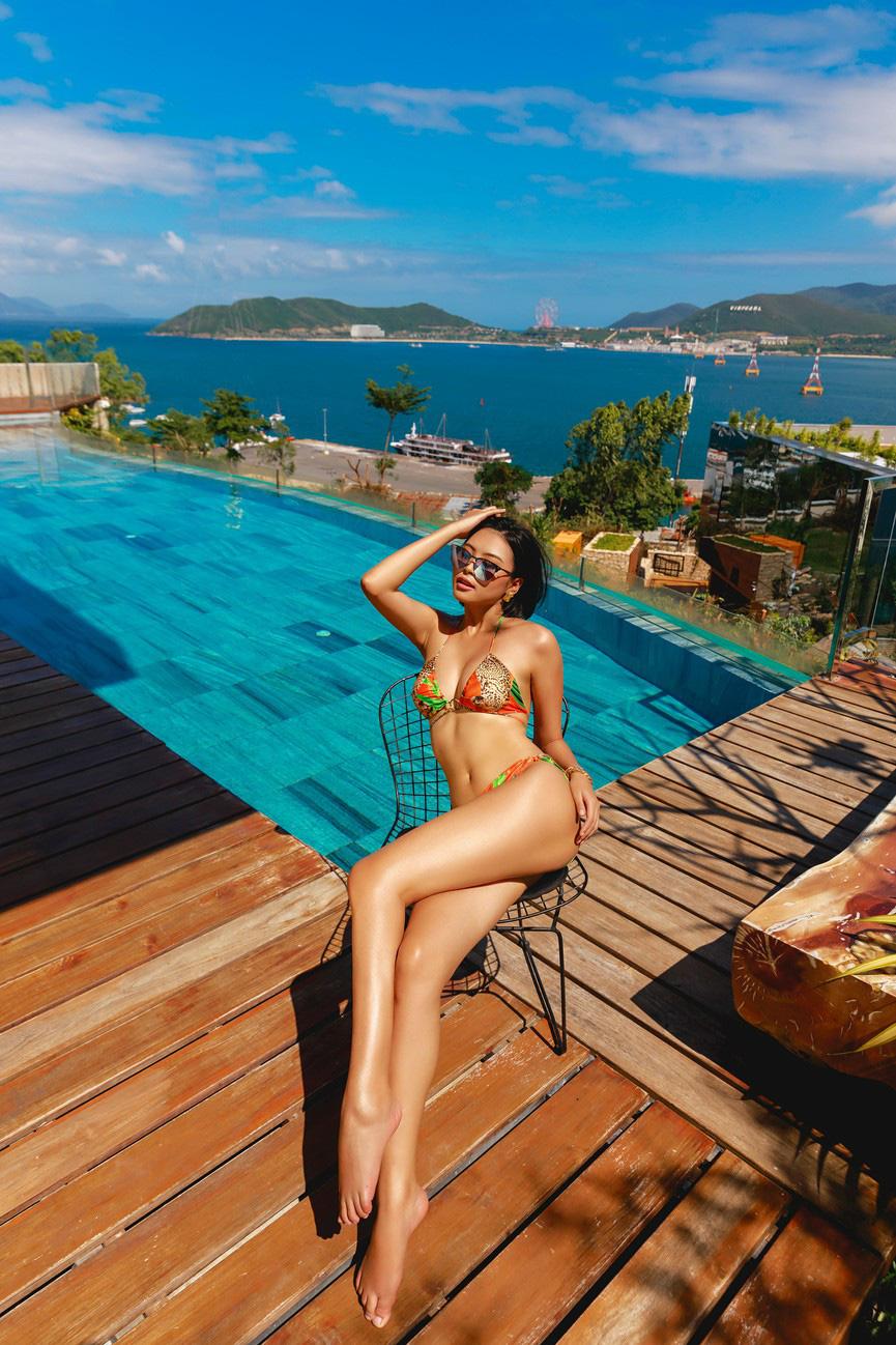"""Mỹ nhân cao 1,75m đẹp như """"chị em sinh đôi"""" với Tăng Thanh Hà mặc bikini quyến rũ hút mắt - Ảnh 4."""