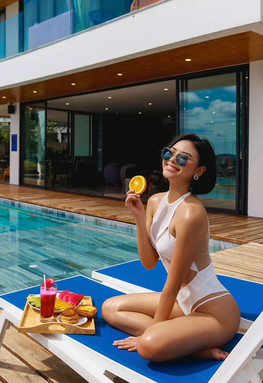 """Mỹ nhân cao 1,75m đẹp như """"chị em sinh đôi"""" với Tăng Thanh Hà mặc bikini quyến rũ hút mắt - Ảnh 9."""