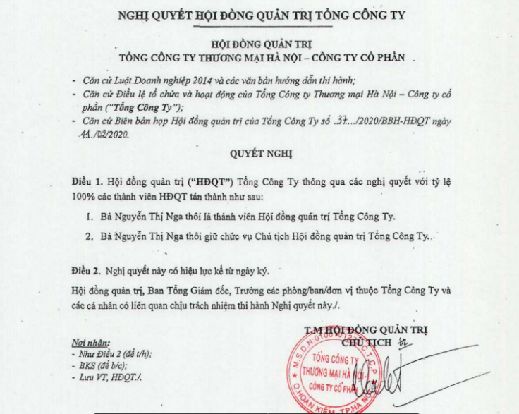 Bà Nguyễn Thị Nga rời ghế Chủ tịch HĐQT Hapro, doanh nghiệp sở hữu gần 100 mảnh đất vàng Hà Nội - Ảnh 1.