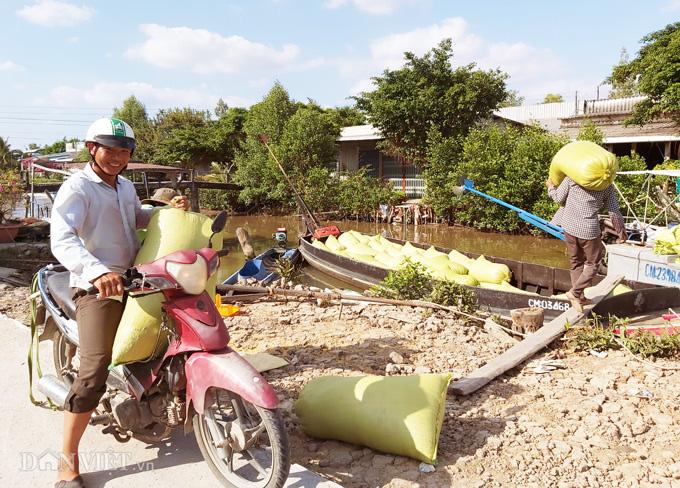 Cà Mau: Kênh nứt nẻ phải thuê xe máy chở lúa đi bán, dân méo mặt - Ảnh 6.