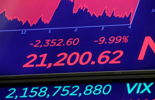 Chứng khoán Mỹ có phiên tồi tệ nhất kể từ lần sụp đổ năm 1987 - Ảnh 1.