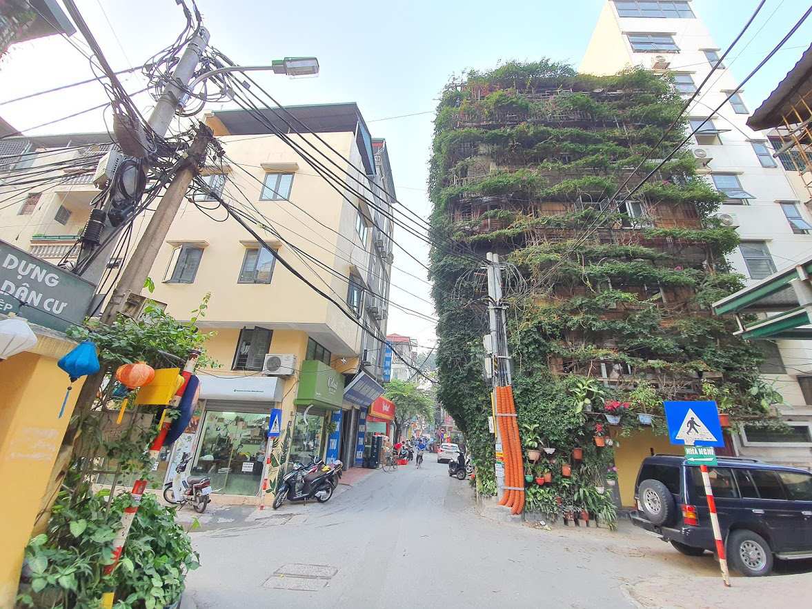 Nhà cây 5 tầng phủ kín hoa giấy ở Hà Nội, ai đi qua cũng dừng lại ngắm - Ảnh 2.