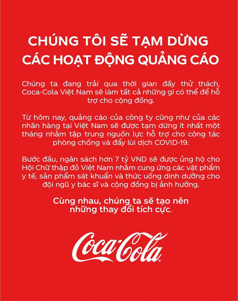 Coca-Cola ủng hộ 7 tỷ đồng hỗ trợ Việt Nam phòng, chống dịch Covid-19 - Ảnh 1.