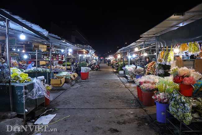 Chợ hoa lớn nhất miền Bắc ế ẩm, người bán buồn bã co ro vì lạnh - Ảnh 2.
