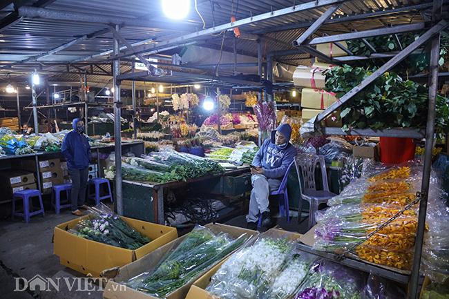 Chợ hoa lớn nhất miền Bắc ế ẩm, người bán buồn bã co ro vì lạnh - Ảnh 4.