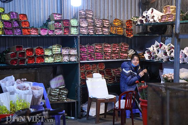 Chợ hoa lớn nhất miền Bắc ế ẩm, người bán buồn bã co ro vì lạnh - Ảnh 5.