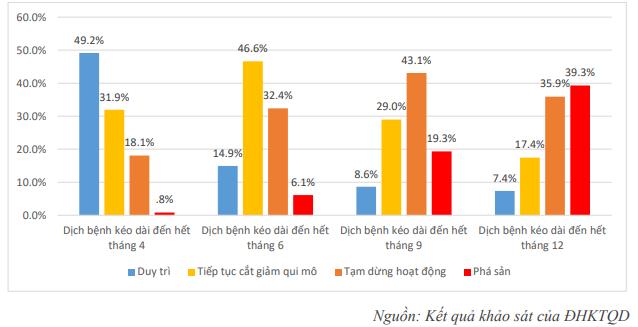Chỉ còn 14,9% doanh nghiệp duy trì được hoạt động nếu dịch Covid-19 kéo dài đến hết tháng 6/2020 - Ảnh 4.