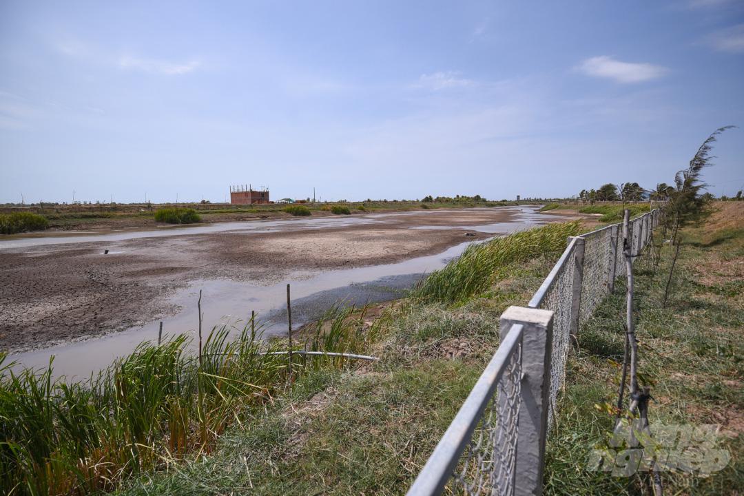 Hồ nước ngọt lớn nhất miền Tây cạn rặc, dân xuống mò cua bắt ốc kiếm sống qua ngày - Ảnh 1.